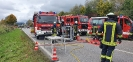 VU mit Pkw auf der B300 Ortsumgehungsstraße Thannhausen Nord-Ost am 15.10.20_1